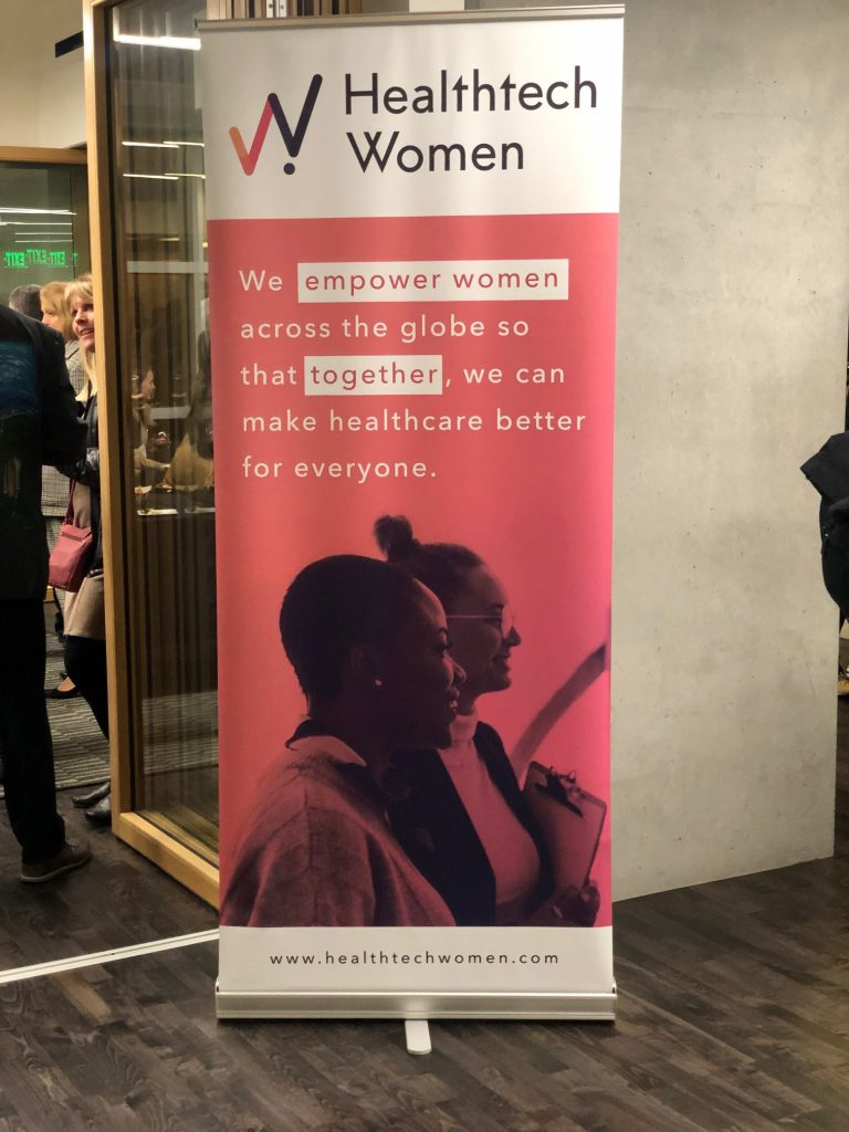 Backdrop of Healthtech Women's 8th annual reception